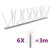 vidaXL putnu atbaidīšanas radzes, 4 rindas, 6 gab., 3 m, tērauds