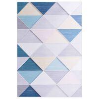 vidaXL paklājs ar apdruku, krāsains, 140x200 cm, audums