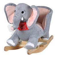 vidaXL bērnu šūpuļkrēsliņš, zilonis