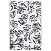 vidaXL āra paklājs, 120x180 cm, balts un melns PP
