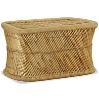 vidaXL kafijas galdiņš, taisnstūrveida, 78x50x45 cm, bambuss