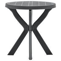 vidaXL bistro galds, antracītpelēks, Ø70 cm, plastmasa
