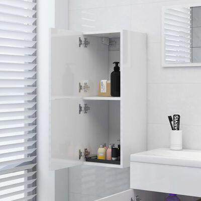 vidaXL vannasistabas skapītis, balts, 30x30x80 cm, skaidu plāksne