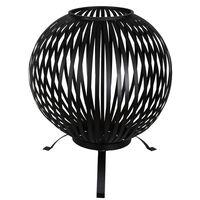 Esschert Design uguns bumba, melns oglekļa tērauds, FF400