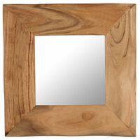 vidaXL spogulis, 50x50 cm, akācijas masīvkoks
