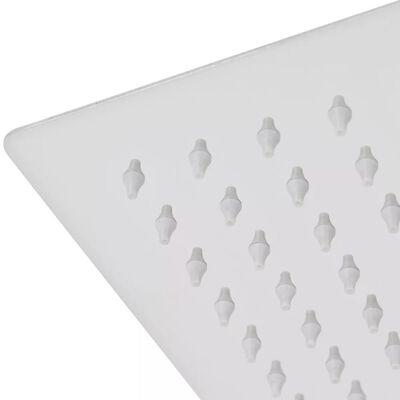 vidaXL lietus dušas galva, nerūsējošais tērauds, 30x40 cm, taisnstūra