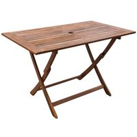 vidaXL dārza galds, 120x70x75 cm, akācijas masīvkoks