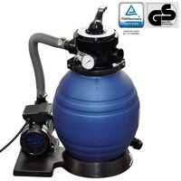vidaXL baseina sūknis ar smilšu filtru, 400 W, 11000 l/h