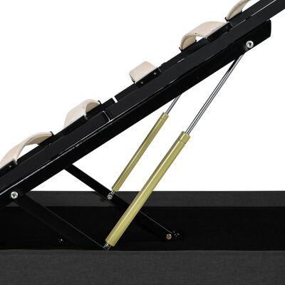 vidaXL gultas rāmis, hidraulikas mehānisms, pelēks audums, 100x200 cm