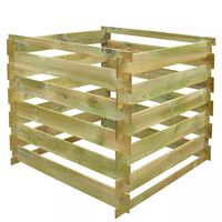 vidaXL komposta kaste, 0,54 m3, kvadrāta forma, koks