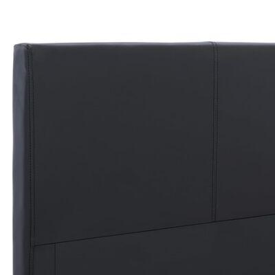 vidaXL gultas rāmis, melna mākslīgā āda, 180x200 cm