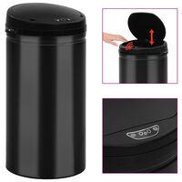 vidaXL automātiska atkritumu tvertne ar sensoru, oglekļa tērauds, 50 L