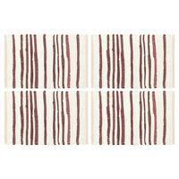 vidaXL galda paliktņi, 4 gab., vīnsarkani un balti, 30x45 cm