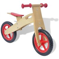 vidaXL sarkans līdzsvara velosipēds