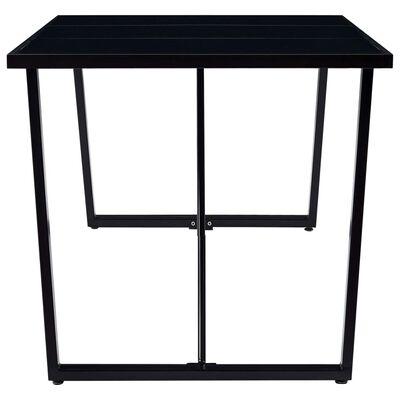 vidaXL virtuves galds, melns, 180x90x75 cm, rūdīts stikls