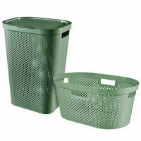Curver veļas kastes un groza komplekts Infinity, 2 gab., 40L+60L, zaļš