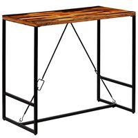 vidaXL bāra galds, 120x60x106 cm, pārstrādāts masīvkoks