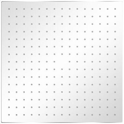 vidaXL lietus dušas galva, nerūsējošais tērauds, 40x40 cm, kvadrāta
