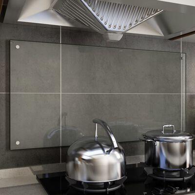 vidaXL virtuves panelis, 100x50 cm, caurspīdīgs rūdīts stikls