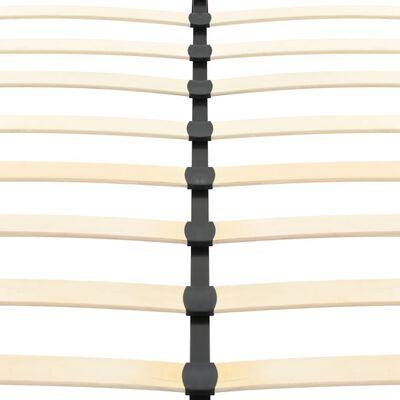 vidaXL gultas rāmis, 200x160 cm, melna mākslīgā āda