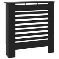 vidaXL radiatora pārsegs, melns MDF, 78 cm