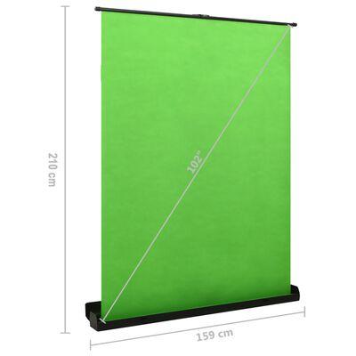 """vidaXL foto fons, zaļš, 102"""", 4:3"""
