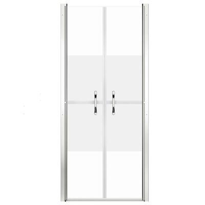 vidaXL dušas durvis, 76x190 cm, ESG, pusmatētas