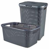 Curver Style veļas kastes un groza komplekts, 2 gab., 45L+60L, pelēks