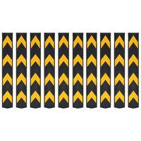 vidaXL atstarojoši stūru aizsargi, 10 gab., gumija, 80 cm