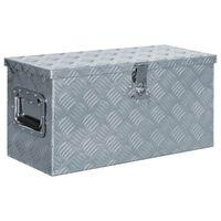 vidaXL kaste, 61,5x26,5x30 cm, alumīnijs, sudraba krāsā