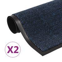 vidaXL paklāji, 2 gab., taisnstūra formas, 60x90 cm, zili