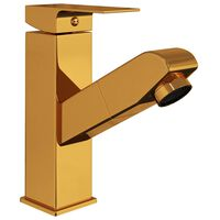 vidaXL vannasistabas izlietnes jaucējkrāns, zelta krāsā, 157x172 mm