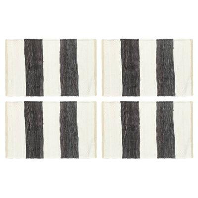 vidaXL Chindi galda paliktņi, 4 gab,. pelēki un balti, 30x45 cm