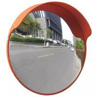 Izliekts satiksmes spogulis, PC plastmasa, oranžs, 45 cm