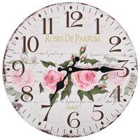 vidaXL vintāžas sienas pulkstenis, zieds, 30 cm