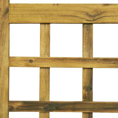 vidaXL istabas aizslietnis, 3 paneļi, 120x170 cm, akācijas masīvkoks