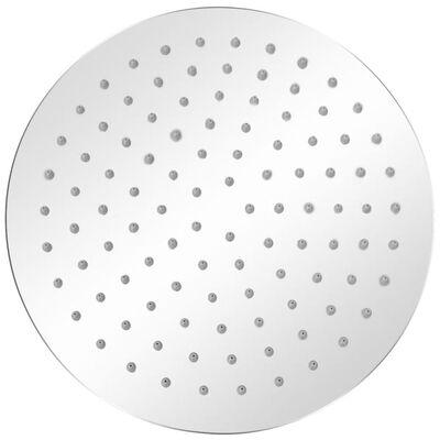 vidaXL lietus dušas galva, nerūsējošais tērauds, 25 cm, apaļa