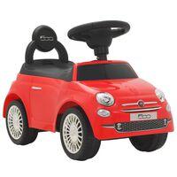 vidaXL bērnu rotaļu mašīna, Fiat 500, sarkana