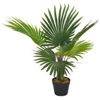 vidaXL mākslīgā palma ar podiņu, 70 cm, zaļa