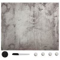 vidaXL magnētiskā tāfele, stiprināma pie sienas, stikls, 50x50 cm