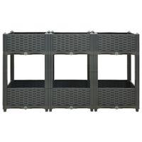 vidaXL puķu kaste, 120x40x71 cm, polipropilēns