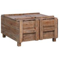 vidaXL kafijas galdiņš, 65x65x38 cm, pārstrādāts masīvkoks