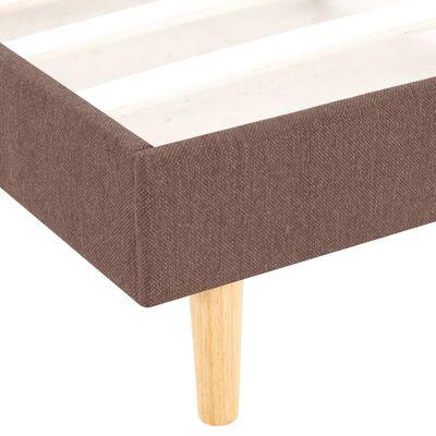 vidaXL gultas rāmis, brūna auduma apdare, 140x200 cm