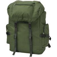 vidaXL mugursoma, 65 L, zaļa, armijas stila