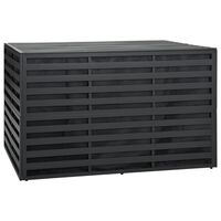 vidaXL dārza uzglabāšanas kaste, alumīnijs, 150x100x100 cm, pelēka