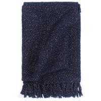 vidaXL pleds, 125x150 cm, tumši zils, lureks