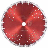 vidaXL dimanta griešanas disks, ar turbo un caurumiem, tērauds, 300 mm