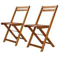 vidaXL dārza bistro krēsli, 2 gab., akācijas masīvkoks