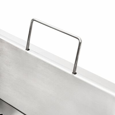vidaXL dubults elektriskais friteris, 12 L, nerūsējošs tērauds, 4000 W