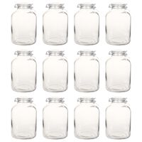 vidaXL stikla burciņas ar slēdzamu vāku, 12 gab., 5 L